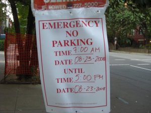 """No Parking"" on 15th between P and Corcoran this Saturday. Why?"