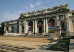 The Historical Society of Washington, DC, is housed in this 1902 Beaux-Arts building. It also houses the Kiplinger Research Library and National Music Center. (Photo by Luis Gomez Photos.)