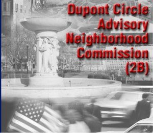 ANC 2B/Dupont Circle meets Wednesday, January 14, at the D.C. Jewish Community Center, 16th & Q Streets NW.