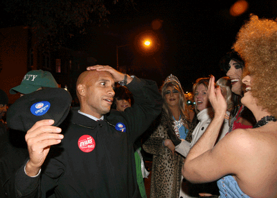 D.C. Mayor Adrian Fenty at the annual 17th Street High Heel Race on October 28.