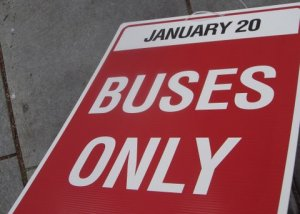 It looks like R Street through Borderstan will be open only to bus traffic on Inauguration Day.