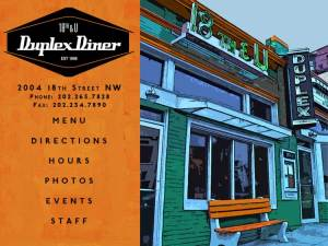 The Duplex Diner is on 18th Street NW just north of U/Florida. (Image: Duplex Diner Web site.)