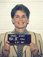 The late Leona Helmsley's infamous mug shot. (Photo: Wikipedia.)