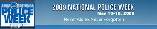 May 10-16 is National Police Week. (Image: National Law Enforcement Officers Fund.)