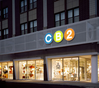 Crate & Barrel's CB2 store on North Avenue in Chicago. (Photo: CB2 Web site.)