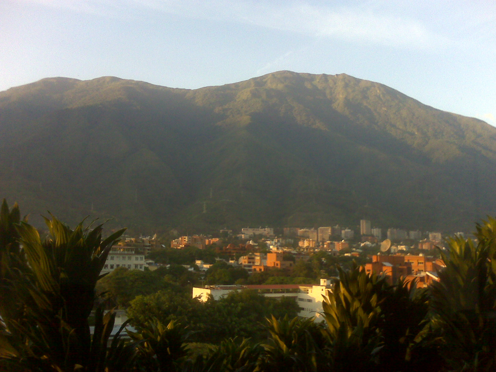 El Avila Mountain separates the Venezuelan capital of Caracas from the Caribbean, just 17 miles on the other side.