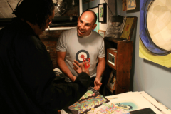 Local artist Brian Petro in his studio on Sunday. (Photo: Luis Gomez Photos)