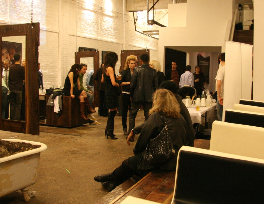 The party at Immortal Beloved Salon was winding down around 10 p.m. last night. (Luis Gomez Photos)