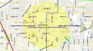 Dupont Circle crime Logan Circle crime Borderstan crime MPD