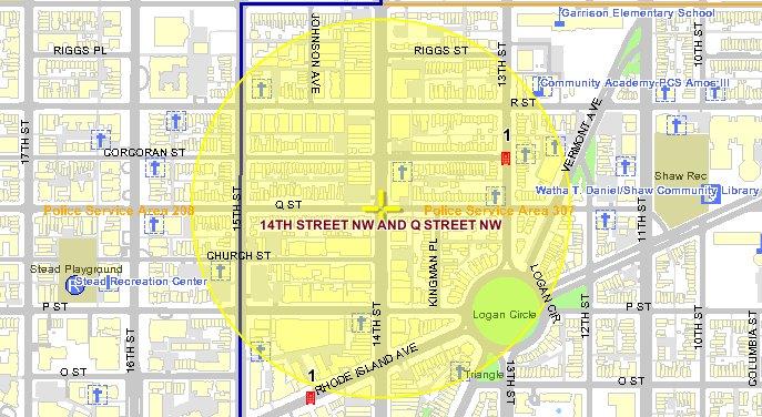 Borderstan 14th Street crime Logan Circle