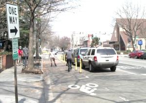 Borderstan 15th Street bike lane DDoT